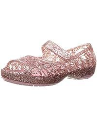 crocs Kids' Isabella Glitter PS Flat