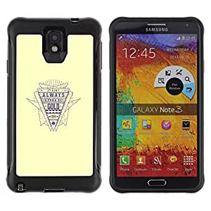 "Pulsar iFace Series Tpu silicona Carcasa Funda Case para SAMSUNG Galaxy Note 3 III / N9000 / N9005 , Cita de Oro Estilo retro Lema vida Éxito"""