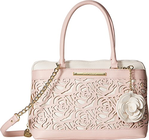 Betsey Johnson Women's Roses Satchel Bone/Blush One (Betsey Satchel)