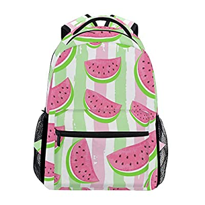 Toprint Vintage Watermelon Stripe Backpack Trave Shoulder Bag Bookbag Daypack | Kids' Backpacks