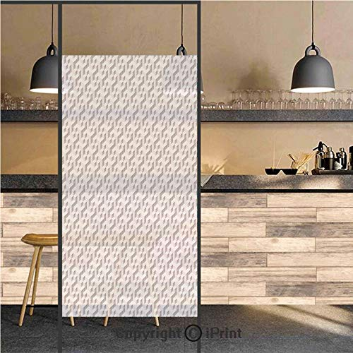3D Decorative Privacy Window Films,Three Dimensional Isometric Cube Pattern Geometric Design Modern Illustration Decorative,No-Glue Self Static Cling Glass film for Home Bedroom Bathroom Kitchen Offic
