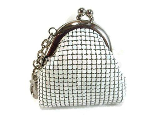 Womens Vintage Metal Mesh Kiss Lock Clasp Key Ring Coin Purse (Factory Wholesale Handbag)