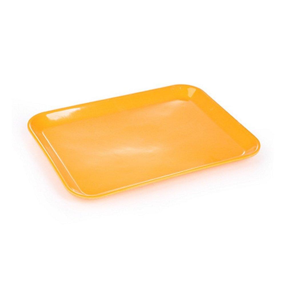 chytaii vassoio di pranzo self-service per ripristino rapido mensa Fastfood supporto di piatto rettangolare multicolore/ /Medio arancione