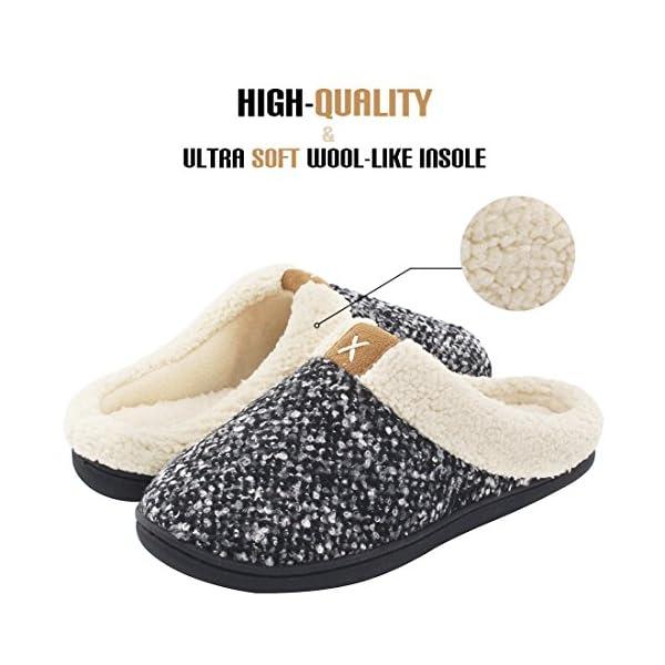 08adb164ed4 Women s Cozy Memory Foam Slippers Fuzzy Wool-Like Plush Fleece Lined House  Shoes w Indoor ...