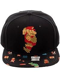 73b3d0db0ac Nintendo Super Mario Brothers Mario 8Bit Pixel Sublimated Bill Snapback Cap  Hat