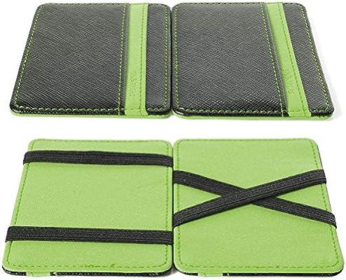 HOUSE CLOUD Portafoglio Magico in simili cuoio - magic wallet Credit Card  Holder - porta moneta -Verde 7c32d8077c31