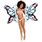 BigMouth Inc Blue Butterfly Wings Pool Float, Pool Tube with Patch Kit Included