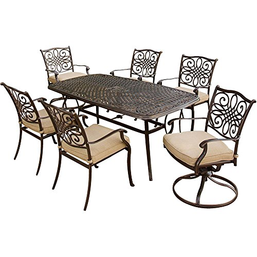 Outdoor Patio Furniture Set 7pc Deep Cushioned Outdoor