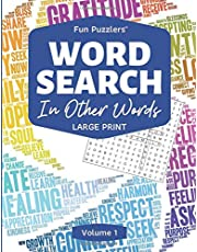 """Word Search: In Other Words Volume 1: 8.5"""" x 11"""" Large Print"""