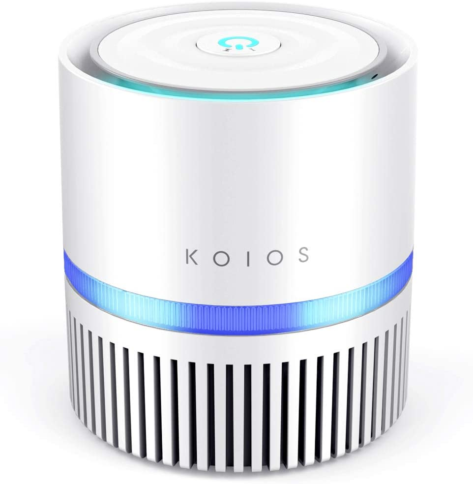 KOIOS Air Purifier, Desktop Air Filtration with True HEPA Filter, Compact Home Air Cleaner for Rooms, RVs