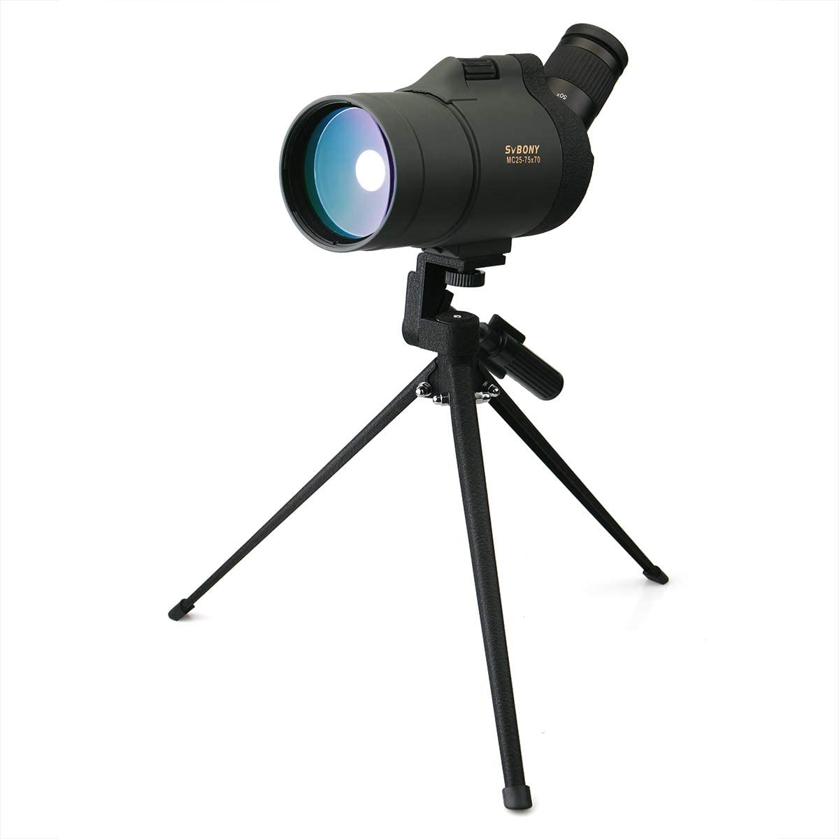 SVBONY SV41 Spotting Scope Mak with Tripod Waterproof 25-75×70 Mini Compact for Shooting Birdwatching Travel for Both Terrestrial and Astronomical Use