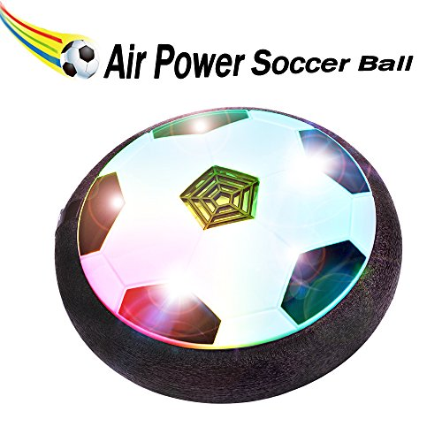 BONAOK Kids Toys Air Power Soccer Ball,Christmas Gift Kids Disk Hover Ball Equipped With LED Lights, Sports Toys With Foam Bumpers,Indoor or Outdoor Activities