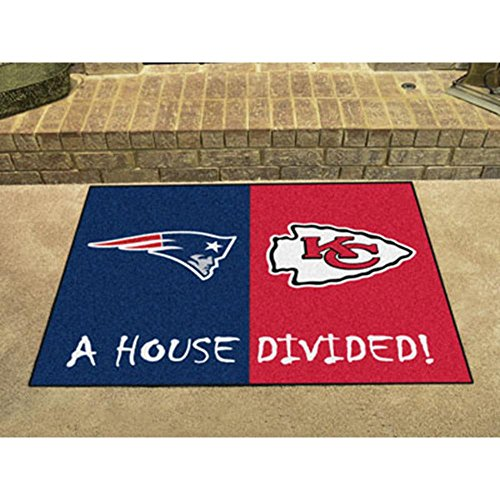 Fanmats 22315 NFL-Patriots-Cheifs House Divided (Nfl Area House Rugs)