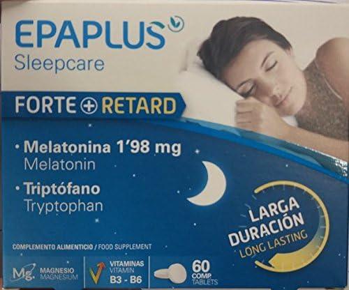 Epaplus Forte + Retard, Suplemento para Dormir con Melatonina y ...