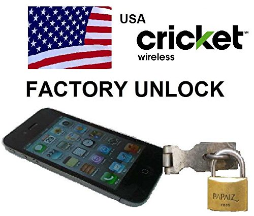 Cricket USA Unlocking Service for iPhone 8, 8 Plus, 7, 7 Plus, 6s, 6s Plus, SE, 6, 6 Plus, 5s, 5c, 5, 4s Models - Make Your Device More Useful Than Before - No Re-lock Lifetime Guarantee
