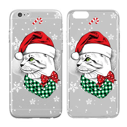 Compatible for iPhone 7 Plus - Cream Cookies - Ultra Slim Hard Plastic Cover Case - Christmas iPhone Case, Cool, Snowflake, Kitten Soft Flexible