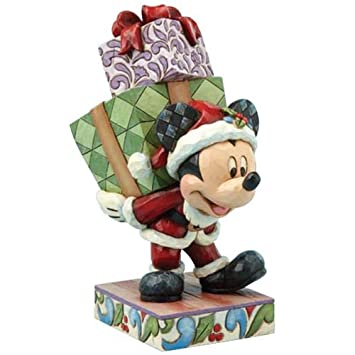 Disney Jim Shore Traditions Here Comes Old St. Mick Mickey Mouse Figurine
