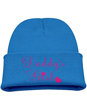 Daddy's Girl Kid's Hats Winter Funny Soft Knit Beanie Cap, Unisex