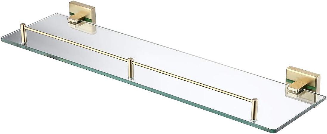 KOHLER K-10563-PB Devonshire Glass Shelf Vibrant Polished Brass