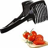Anwenk® Tomato Slicer Easy Slice Universal Slicer Lemon Slicer Tomato Cuter Chopper Clamp Holder - Black