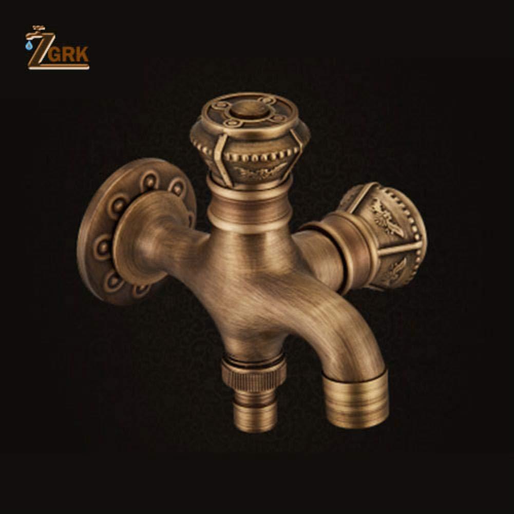 128110mm ZGRK Vintage Antique Brass redary Single Level Single Hole Kitchen Sink Mixer Tap Bathroom Sink Mixer Taps bathroom furniture fitting A-055