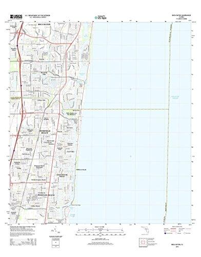 Topographic Map Poster - Boca Raton, FL TNM GEOPDF 7.5X7.5 Grid 24000-SCALE TM 2013, 24