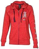 NIKE Women's MLB Los Angeles Angels Lightweight Hoodie-Red Heather