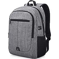 Laptop Backpack 15.6 inch School Computer Bag College Students Bookbag Water Resistant Travel Business Backpacks for Men Women Hiking Traveling Carryon Lightweight DaypackBlack