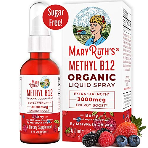 Mary Ruth's Organic Vitamin B12 Liquid Spray (3000 mcg) - Extra Strength