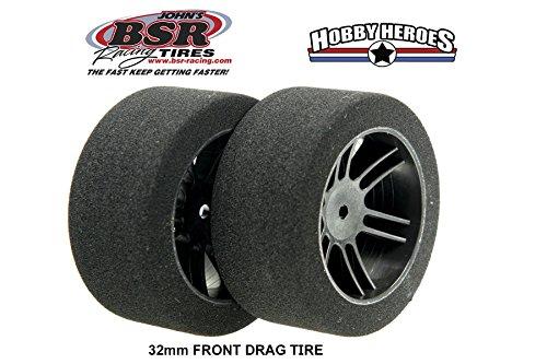 BSRF3225 FOAM TIRES 1/10 DRAG TIRES 32mm 25 SHORE (Foam Bsr Tires)