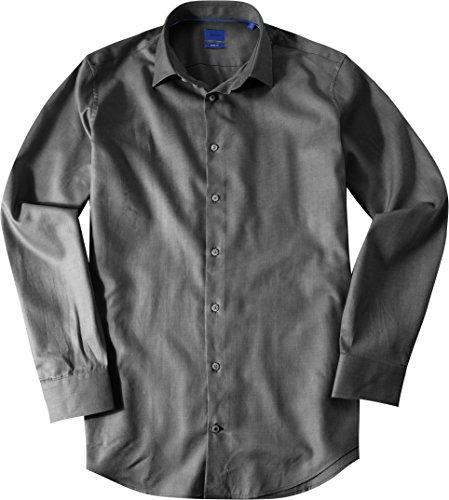 JOOP! Herren Hemd Pierre1 Baumwolle Oberhemd Gemustert, Größe: 40, Farbe: Grau