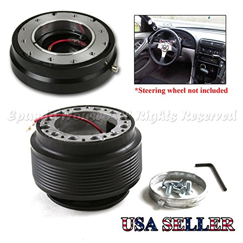 EpandaHouse Compatible with 02-06 Acura Rsx Dc5 6-Hole Steering Wheel Hub Boss Adapter + Quick ()