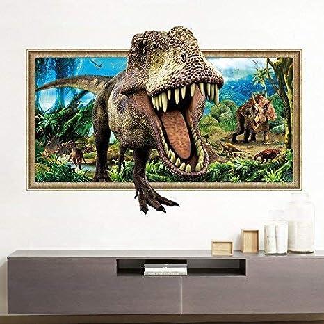 Styhomsun Pegatina De Pared 3d Dinosaur Wallpaper Para