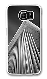 VUTTOO Rugged Samsung Galaxy S6 Case, Impressive Building Columns PC Plastic Hard Case Cover for Samsung Galaxy S6 PC White