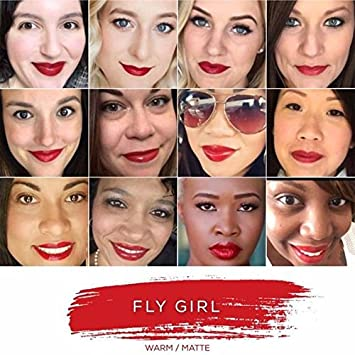 LipSense FLY GIRL by SeneGence BUNDLE with Glossy Gloss and Oops Remover .25 OZ each