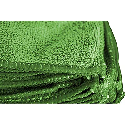 Towels by Doctor Joe DJMF6100-G Green 16 Inch x 24 Inch, (Pack of 12) Microfiber Towel, 12 Pack: Automotive