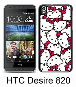 Popular HTC Desire 820 Case ,Hello Kitty 58 black HTC Desire 820 Cover Beautiful And Durable Designed Case