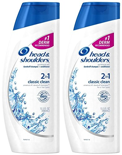 Head & Shoulders Classic Clean 2-in-1 Dandruff Shampoo & Conditioner, 13.5 Ounce (Pack of 2) by Head & Shoulders