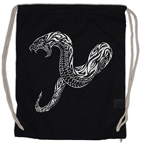 TRIBAL SNAKE Drawstring Bag Gym Sack Schlange Tattoo Oldschool Flash Artist Studio