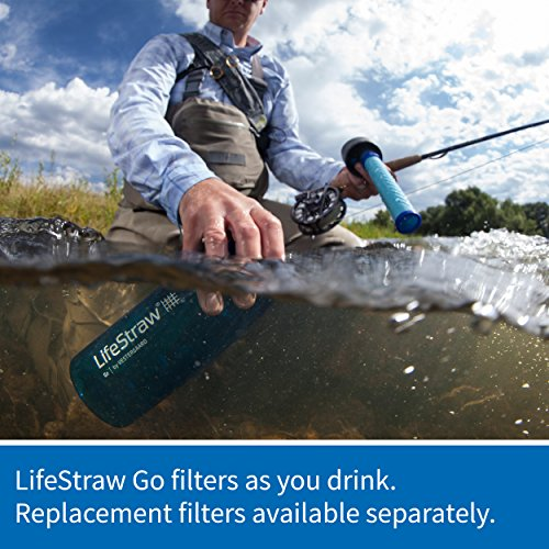 LifeStraw Go Water Filter Bottle with 2-Stage Integrated Filter Straw for Hiking, Backpacking, and Travel, Grey by LifeStraw (Image #7)