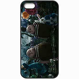 Personalized iPhone 5 5S Cell phone Case/Cover Skin Alice In Wonderland Black