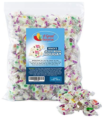 Brach's Jelly Nougats, 3 LB Bulk Candy (Nougats Christmas)