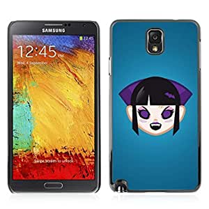 Colorful Printed Hard Protective Back Case Cover Shell Skin for Samsung Galaxy Note 3 III / N9000 / N9005 ( Vampire Girl Illustration ) Kimberly Kurzendoerfer