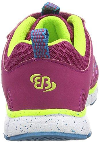 Bruetting Spiridon Fit VS - zapatillas de running de material sintético niña rosa - Pink (pink/lemon/türkis)