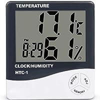 OurLeeme Temperatura Humedad Despertador Digital Interior Gran Pantalla
