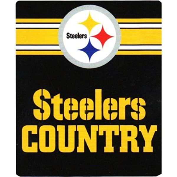 Nfl Pittsburgh Steelers Country Fleece Throw Blanket 50 Inch By 60 Inch Black Sports Fan Throw Blankets Clothing