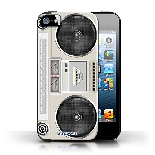Kobalt® Imprimé Etui / Coque pour Apple iPhone 5/5S / Boombox conception / Série Retro Tech
