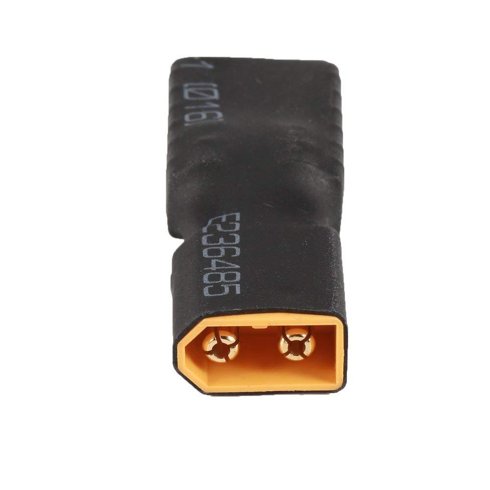 RoadRoma 2 Unids TRX Hembra A Xt60 Conector Macho Adaptador Inal/ámbrico Conector de Bater/ía RC Lipo Negro