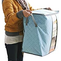 DZT1968 Hot Sale Storage Box Portable Organizer Non Woven Underbed Pouch Storage Bag Box (Sky Blue)