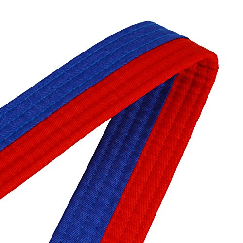Andux rouge Tqdyd Martiaux D'arts Ceinture 01 Bleu Taekwondo De rU84rxqw